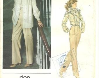 Vogue 2729 Jacket Pants Blouse sz 10 FF Vintage Pattern 1970s RARE