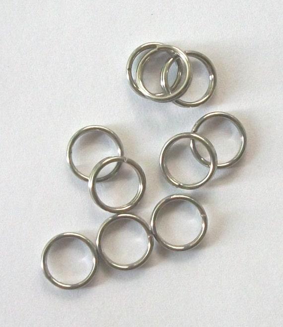 7mm STAINLESS STEEL Split rings  rings, jewelry findings - 200 pieces
