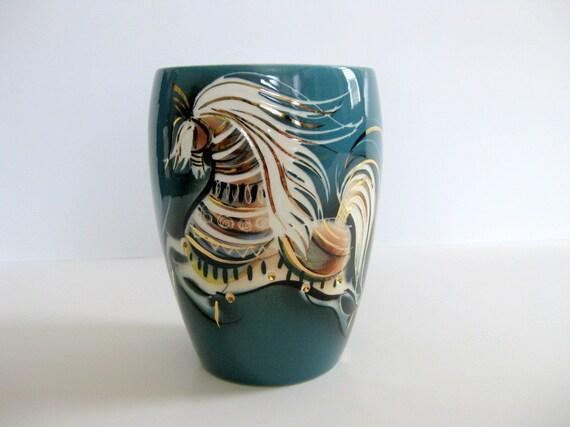 Vintage Sascha Brastoff Vase Star Steed
