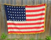 Wonderful Vintage 48 Star American Ceremonial Flag with Gold Fringe Pre 1959