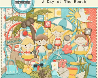 Digital Scrapbook Kit A Day At The Beach