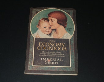 Vintage 1975 - 1915 Economy Cookbook - Reprint by Imperial Sugar - Cooking Baking Recipes Collectible