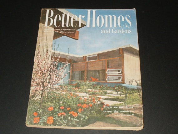 Vintage Better Homes And Gardens Magazine September 1953 Art