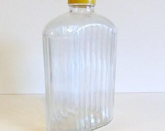 Vintage Glass Bottle Clear Glass Jar