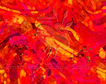 Orange Swirls Abstract