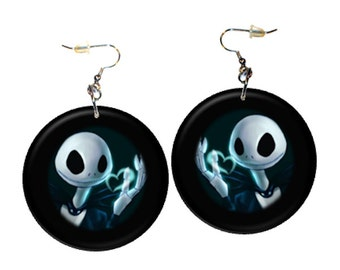 Nightmare Before Christmas Dangle Earrings Button1.25 inch   Nightmare1