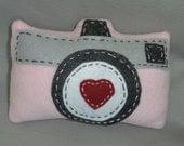 Pink/Black/Blue/Yellow Camera stuffed pillow