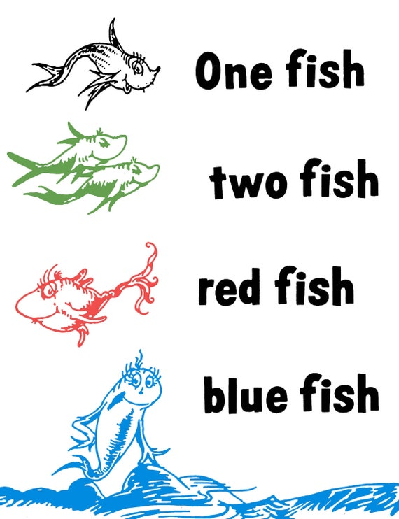 Dashing image pertaining to one fish two fish printable