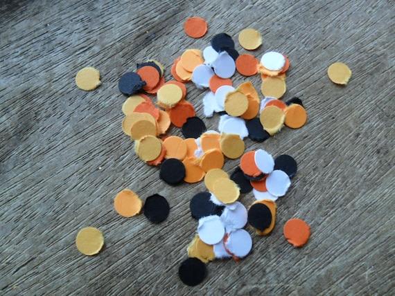 Halloween confetti, orange confetti, punches, embellishments (100) CLEARANCE