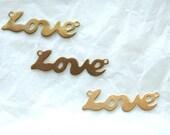 4 Vintage Brass LOVE Attachment // 1960s // Beatles