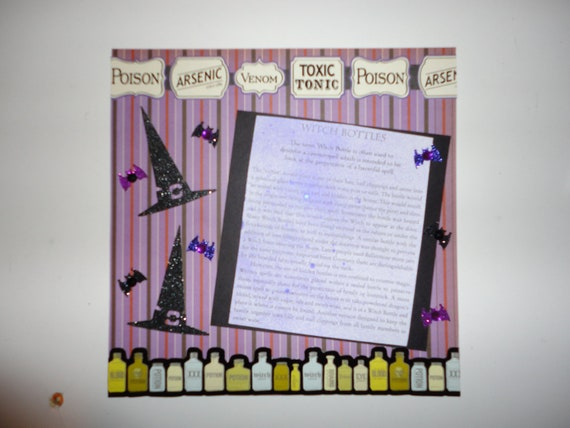Halloween - Witch Bottles info page - 8 x 8