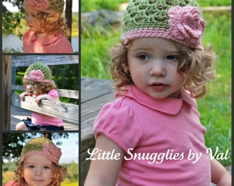 The AML Beanie Light Green Infant-Adult Sizes Available