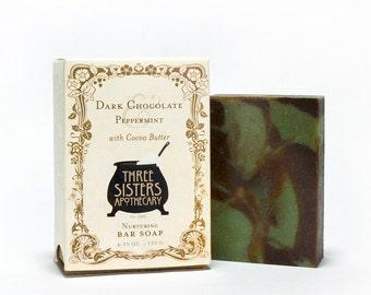 Dark Chocolate & Peppermint Bar Soap 4.75 oz.