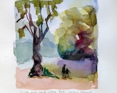 From the Duck Island, Victoria park, 2012, 17x17 cm, original watercolour painting