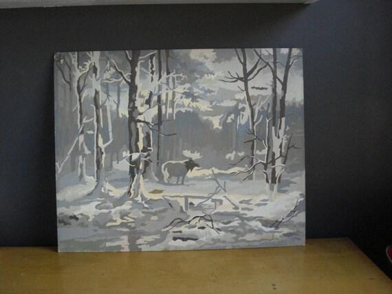Winter Wonder - Vintage Paint by Number - Vintage Landscape Painting