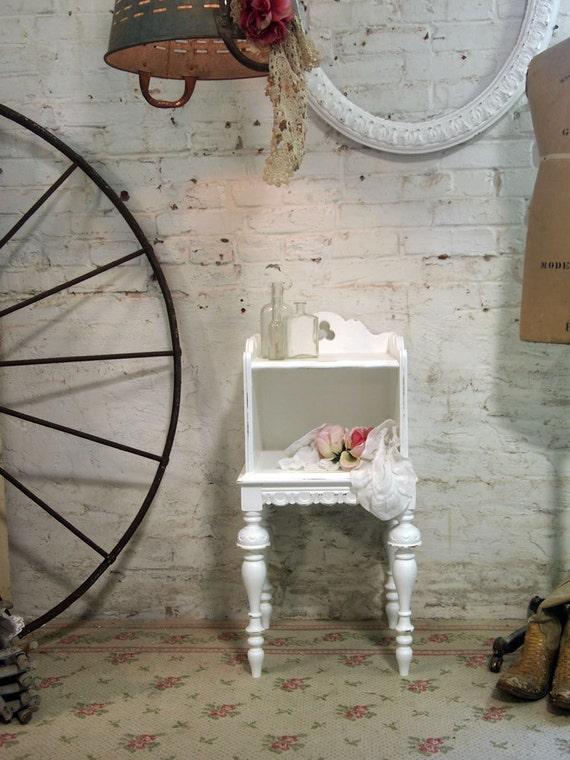 Painted Cottage Romantic French Night Table NT431