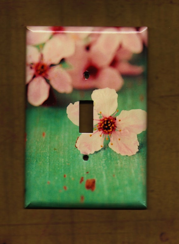 Pink Cherry Blossoms Switchplate cover