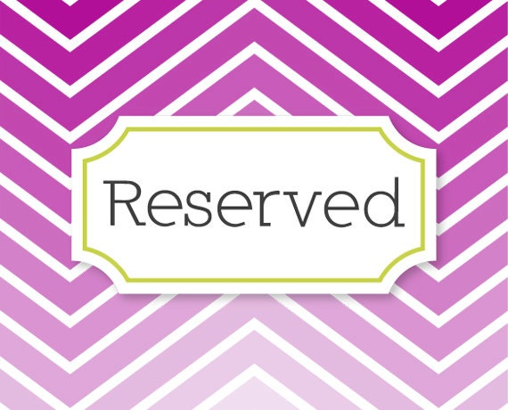 Reserved for Ann