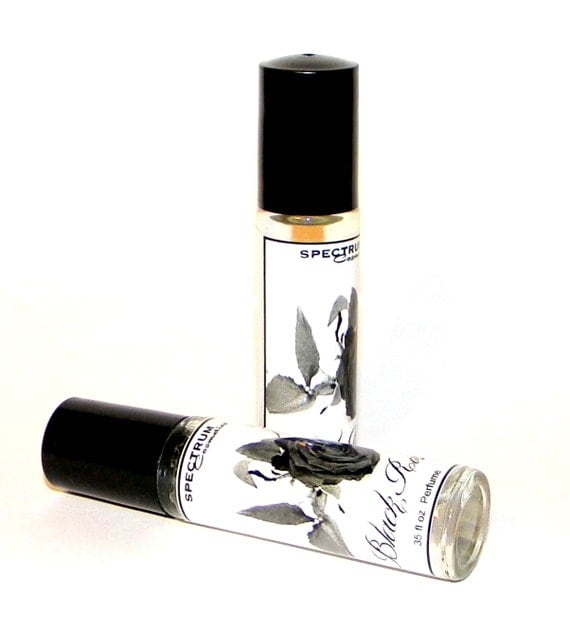 BLACK ROSE Perfume in a .35 fl oz. Glass Rollerball Bottle