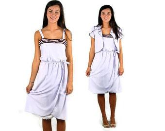 Vintage sundress, sundress and jacket, lavender, lilac, Cin Cin, NWT, Size M/L