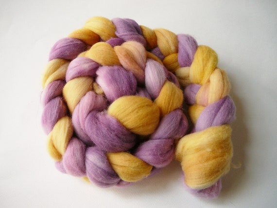 Hand dyed Merino wool roving  My Little Roving Scootaloo  4.25 oz