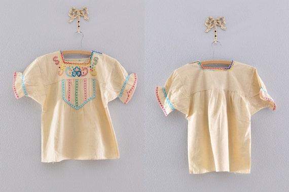 vintage blouse / cotton blouse / 1970s blouse