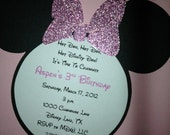Minnie Mouse Invitations - RESERVED for Kristin