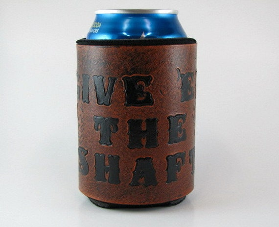 Leather Koozie Buck Deer Bow Hunting Archery