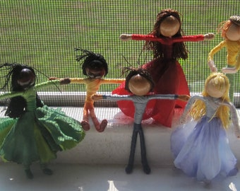A Year of Fairies - gift set - Elves, Christmas ornaments, Flower fairy dolls, seasonal dolls -shipping included