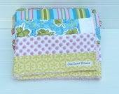 """Girl Baby Blanket - Toddler Blanket - Stroller Blanket - 27"""" X 33"""" - Bohemian Festival"""