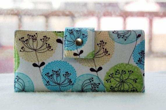 Handmade womens wallet   Handmade vegan clutch wallet lovely print