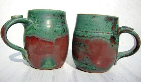 Vintage 70s Pottery Coffee Mugs Set