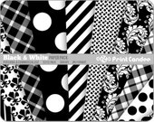 Black and White Paper Pack (12 Sheets) -  Personal and Commercial Use