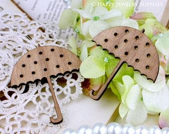 2Pcs Handmade Lovely Umbrella Charms / Pendants (LC024)