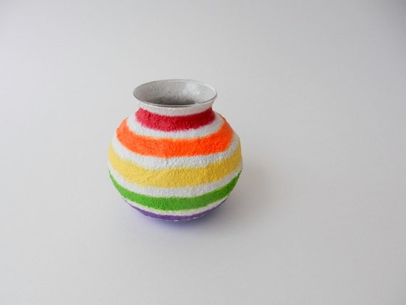 Rainbow Vase /  small colorful vase / home and garden / colorful home decor / pencil holder