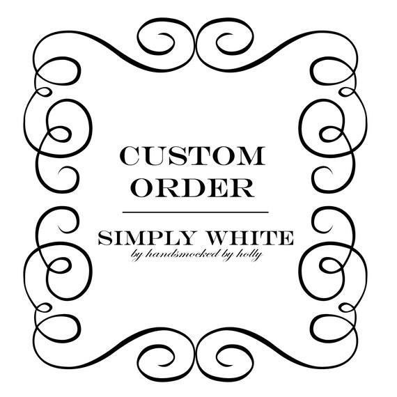 Custom Order for Marla