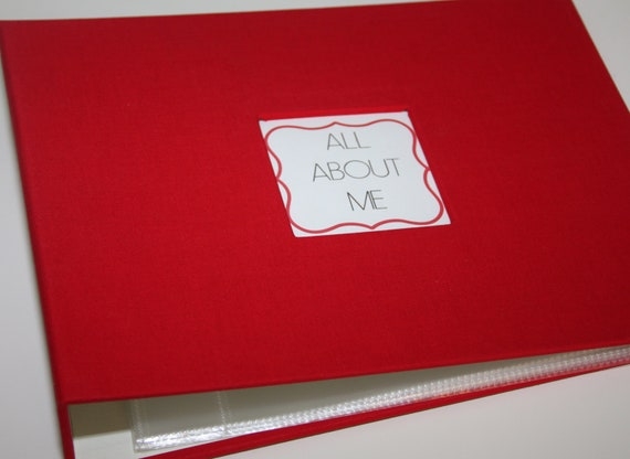 Modern Baby Book - Red Cloth