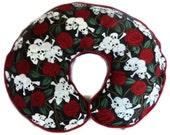 Boppy Cover Skulls and Roses Nursing Pillow Cover