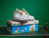 Vintage Pair of Baby Shoes in Original Box