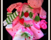 Strawberry Shortcake Crochet Out fit Pattern On PDF Perfect  For A Strawberry Shortcake Costumee