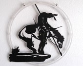 End of the Trail clock-  American Indian, Horse, Trail, warrior, Cowboy, wild west, Metal art, Native American Indian, Wall clock, Tribe