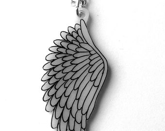Angel Wing necklace - Single Bird or Angel Wing Pendant