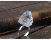 THE MYSTIC, Apophyllite Pyramid Crystal Ring - Stone Temples Collection. Handmade gift under 25