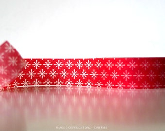 Chugoku Washi Tape Red Starburst Pattern