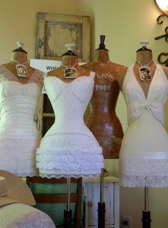 Wedding Dress Form Mannequin Shower Decoration Gift Vintage
