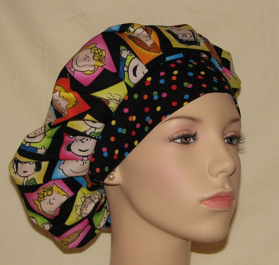 Bouffant Surgical Scrub Hat - Happiness Is Peanuts
