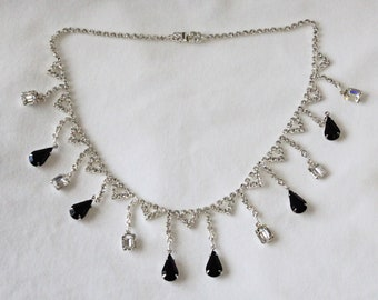 Swarovski Rhinestone Dangle Necklace