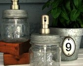 Mason Jar Soap Dispenser with Stainless Steel Pump - Squat Pint
