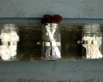 Mason Jar Wall Hanging Organizer Decor Planter