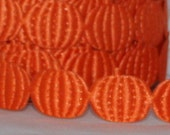 Pumpkin Ribbon by the yard, Fall Ribbon, Fall Decor, Gift Wrapping, Halloween, Thanksgiving, Fall, Crafts, Scrapbook, Party Supplies, Trim